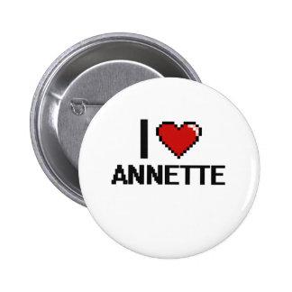 I Love Annette Digital Retro Design 2 Inch Round Button
