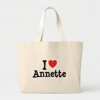 I love Annette heart T-Shirt Tote Bags