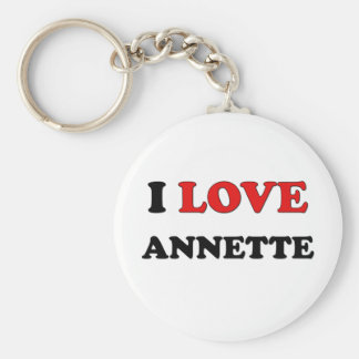 I Love Annette Keychains
