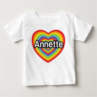 I love Annette, rainbow heart Baby T-Shirt