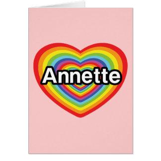 I love Annette, rainbow heart Card