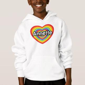 I love Annette, rainbow heart Hoodie