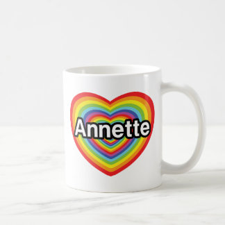 I love Annette rainbow heart Coffee Mugs
