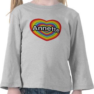 I love Annette, rainbow heart Shirts