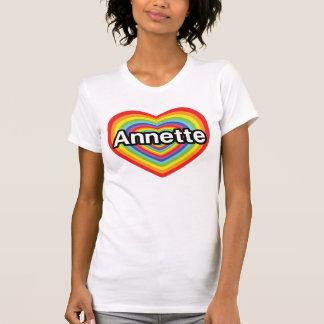 I love Annette, rainbow heart T-shirts