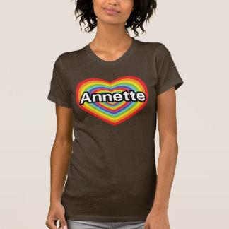 I love Annette, rainbow heart Tees