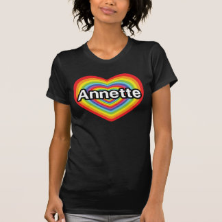 I love Annette, rainbow heart Tshirt