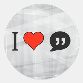I Love Annotation Classic Round Sticker