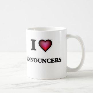 I Love Announcers Coffee Mug