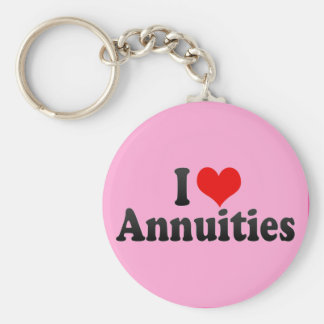 I Love Annuities Key Chain