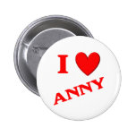 I Love Anny Pinback Buttons