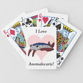 I Love Anomalocaris! Bicycle Playing Cards