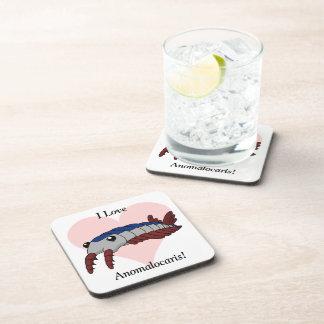 I Love Anomalocaris! Beverage Coaster