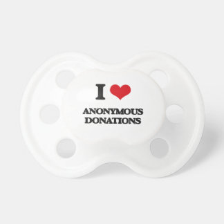 I Love Anonymous Donations BooginHead Pacifier