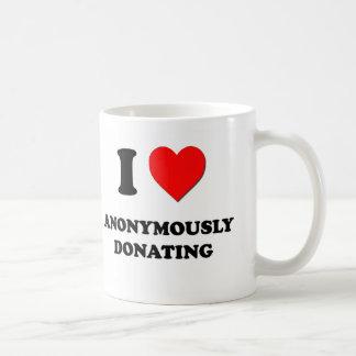 I Love Anonymously Donating Classic White Coffee Mug