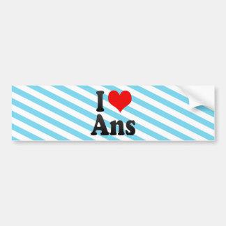 I Love Ans, Belgium. Ik Hou Van Ans, Belgium Bumper Sticker
