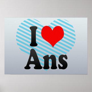 I Love Ans, Belgium. Ik Hou Van Ans, Belgium Posters