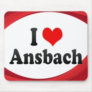 I Love Ansbach, Germany Mouse Pad