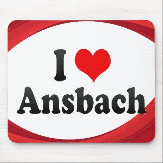 I Love Ansbach Germany Mousepads