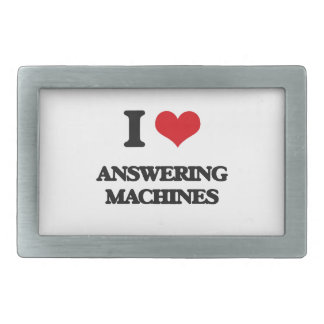 I Love Answering Machines Belt Buckle
