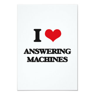 I Love Answering Machines Custom Invitations