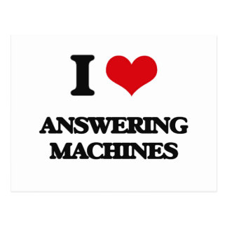 I Love Answering Machines Post Cards