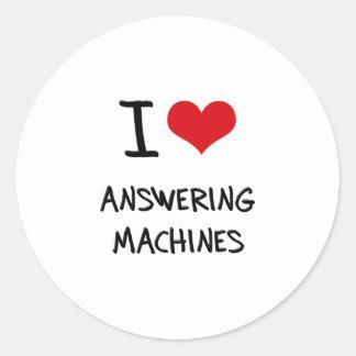 I Love Answering Machines Sticker