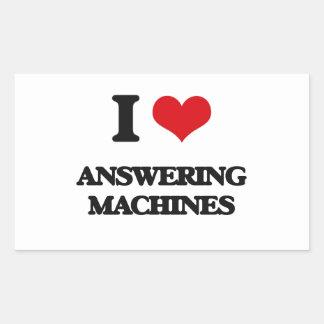 I Love Answering Machines Rectangular Sticker