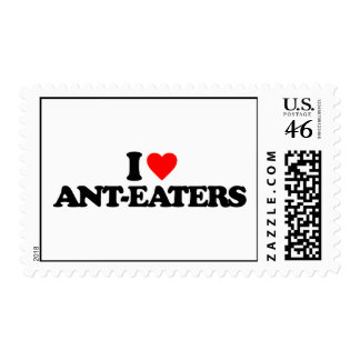 I LOVE ANT-EATERS STAMP