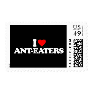 I LOVE ANT-EATERS POSTAGE STAMPS