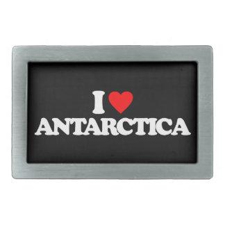 I LOVE ANTARCTICA BELT BUCKLES