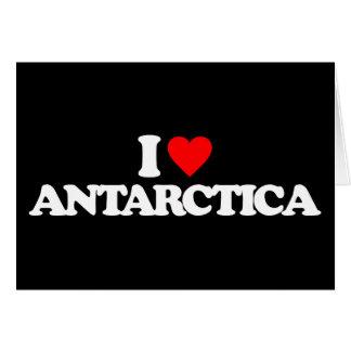 I LOVE ANTARCTICA GREETING CARDS