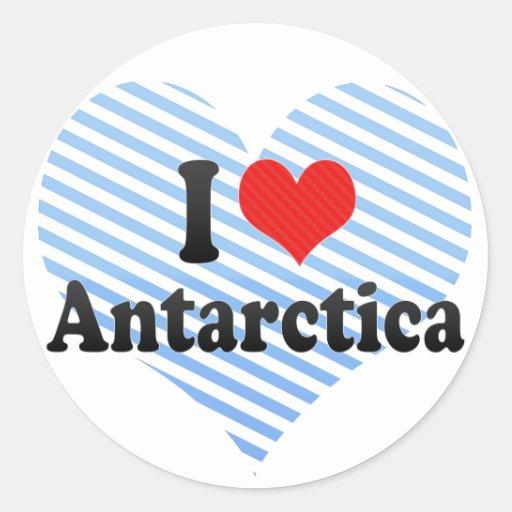 I Love Antarctica Classic Round Sticker