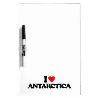 I LOVE ANTARCTICA DRY ERASE WHITEBOARDS