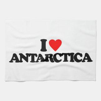 I LOVE ANTARCTICA HAND TOWEL