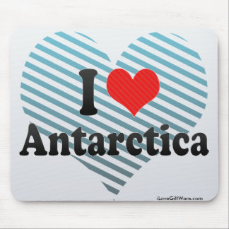 I Love Antarctica Mousepads