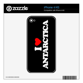I LOVE ANTARCTICA DECALS FOR THE iPhone 4S