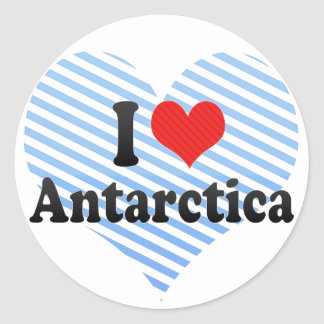 I Love Antarctica Stickers