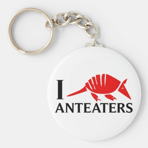 I Love Anteaters Key Chains