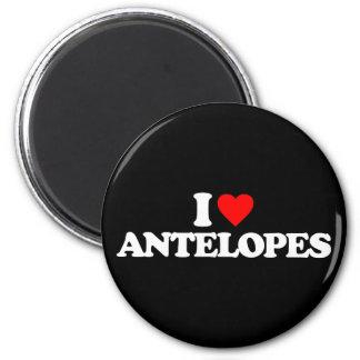 I LOVE ANTELOPES 2 INCH ROUND MAGNET