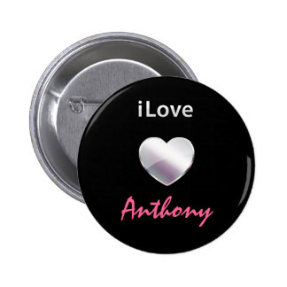 I Love Anthony Pinback Button