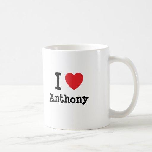I love Anthony heart custom personalized Mugs