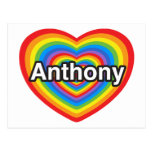 I love Anthony. I love you Anthony. Heart Post Card