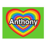 I love Anthony. I love you Anthony. Heart Postcards
