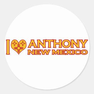I Love Anthony, NM Classic Round Sticker
