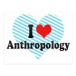 I Love Anthropology Postcard