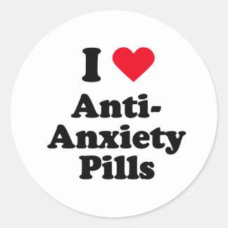 I love anti-anxiety pills round sticker