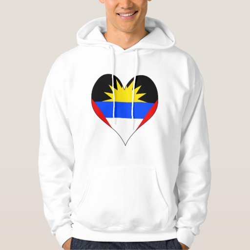 I Love Antigua And Barbuda Hooded Pullover