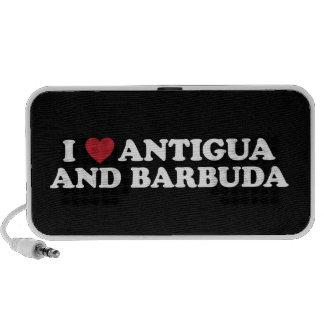 I Love Antigua and Barbuda Notebook Speaker
