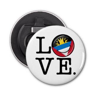 I Love Antigua and Barbuda Smiling Flag Bottle Opener